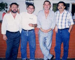 Lima Rodrigues, Arimatéia Júnior, Conor Farias (já falecido) e Raimundo Cabeludo / Foto: Arquivo