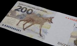 O Banco Central lança a nova nota de R$ 200,00 com a imagem do lobo-guará
