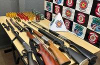 Policiais militares apreendem armas e munições em Governador Edison Lobão