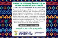 Prazo para edital Dona Francisca do Lindô encerra nesta semana
