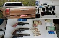 Polícia prende quadrilha envolvida no roubo de Hilux e apreende armas em Balsas