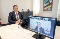 No Senado, governador Flávio Dino participa de debate sobre dificuldades na pandemia