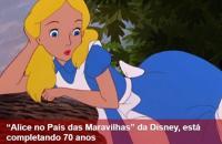 """""""Alice no País das Maravilhas"""" da Disney, está completando 70 anos"""