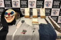 Dupla é presa com explosivos e máscara de palhaço em Santa Inês