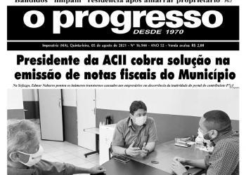 O PROGRESSO - 05 de agosto de 2021