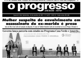 O PROGRESSO - 16 de setembro de 2021