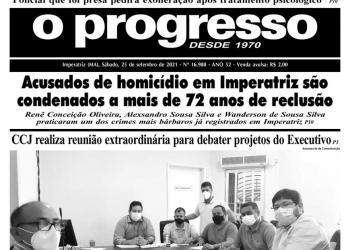 O PROGRESSO - 25 de setembro de 2021