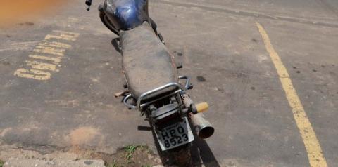 Roubada há cinco anos, motocicleta é recuperada por policiais do 14º BPM