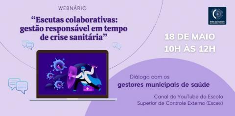 Rede de Controle da Gestão Pública no Maranhão realizará webinário com gestores municipais de saúde