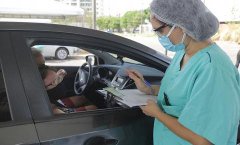 Drive-thru contabiliza 84% de testes negativos para Covid-19 e inclui pessoas com deficiência no público-alvo