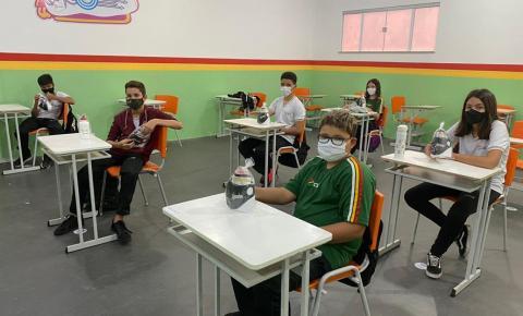 Retomada das aulas presenciais do Colégio Santa Luzia