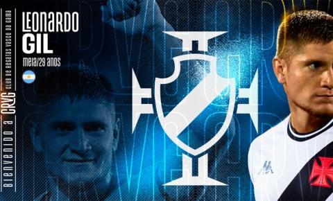 Vasco anuncia a contratação do meia argentino Leonardo Gil