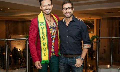 Fernando Torquatto prestigia desfile na cidade de Americana, com a presença do Mister Brasil 2015, Matheus Gouveia.