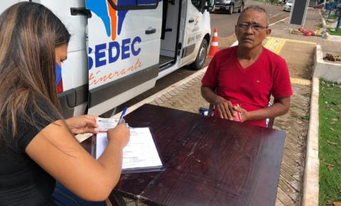 Prefeitura realiza cadastro para a Feira Cidadã na Lagoa Verde