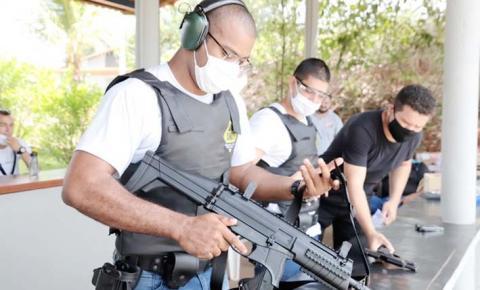 Alunos em formação da Guarda Municipal de Araguaína fazem curso de tiro
