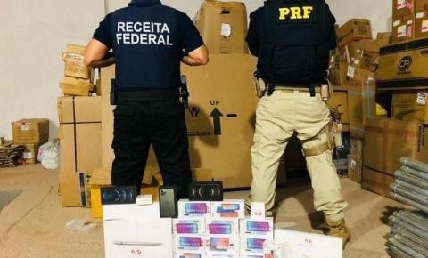 Operação da Receita Federal e PRF apreende mercadorias ilegais em Imperatriz