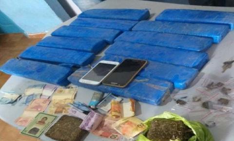 PM prende traficantes e apreende 10 quilos de maconha e cocaína em Carolina