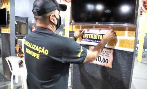 Prefeitura de Araguaína interdita bares por descumprimento das medidas de segurança contra covid-19
