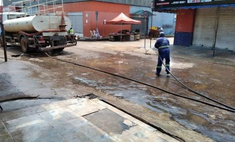 Prefeitura realiza limpeza da feirinha do Bacuri