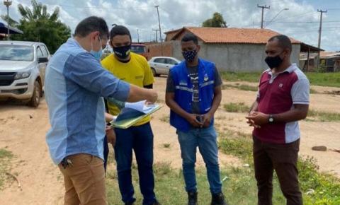 Prefeitura inicia processo de demarcação de áreas institucionais nas vilas Jackson Lago e Esperança
