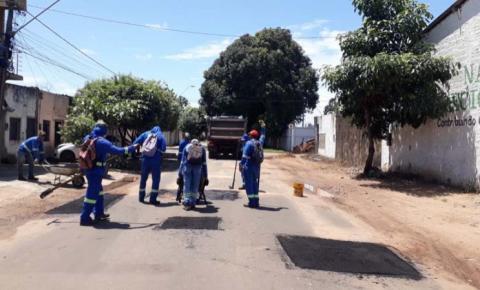 Prefeitura reforça operação tapa–buracos