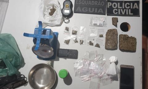 Polícia Civil prende dono de frutaria suspeito de tráfico de droga em Carolina