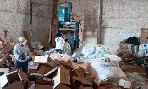 Primeiro bimestre de 2021 fecha com quase 100 toneladas de recicláveis