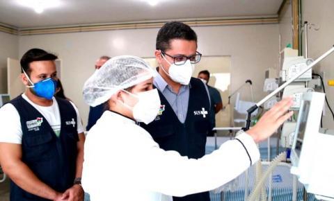 Secretário Carlos Lula visita Região Tocantina e acompanha assistência a pacientes com a Covid-19