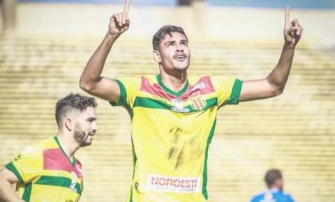 Jefinho não esconde felicidade pelo gol da primeira vitória do Sampaio no Nordestão