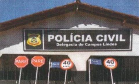 Homem suspeito de depredar placas de trânsito na cidade de Campos Lindos é indiciado pela Polícia Civil
