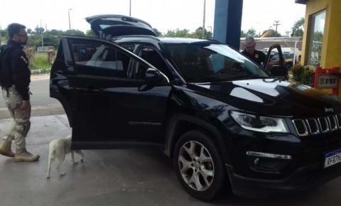 PRF apreende camioneta com ocorrência de roubo ou furto