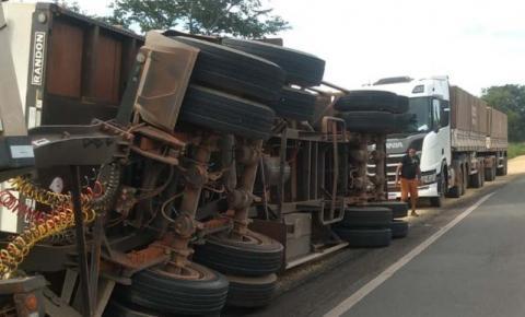 PRF registra furto de carga, infrações de trânsito e destombamento de carreta no Maranhão