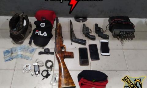 PM/MA apreende armas, munições, troca tiros e frustra assalto na MA-106