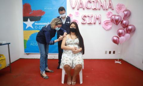 Governo vacina primeira gestante do Maranhão e  dá início à imunização deste novo público no estado