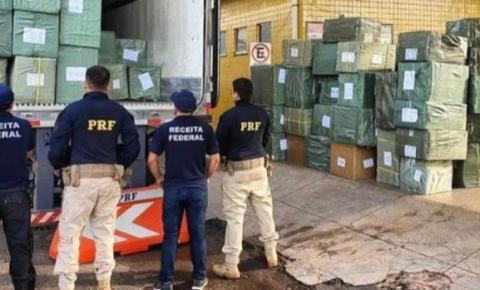 PRF apreende carga de eletrônicos clandestinos avaliada em R$ 2,5 milhões