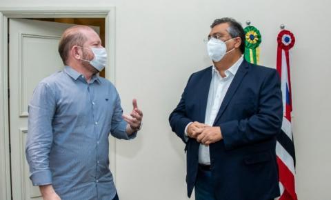 Othelino e Flávio Dino discutem novos projetos enviados à Assembleia e ressaltam harmonia entre os poderes