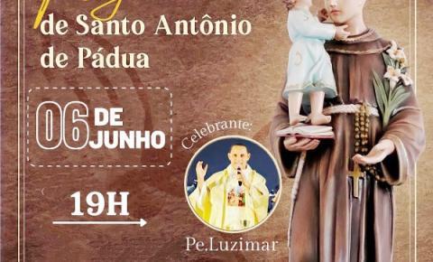 Padre Luzimar Moura celebrará  missa durante festejos em honra  a Santo Antônio de Pádua