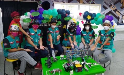 Estudantes do SESI do Maranhão se preparam para etapa nacional do Torneio SESI de Robótica on-line