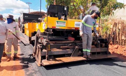 Nova etapa do Mais Asfalto é iniciada em ruas de Açailândia