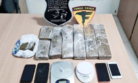 Em Gurupi, Forças de Segurança apreendem drogas e adolescentee prendem dois suspeitos por tráfico