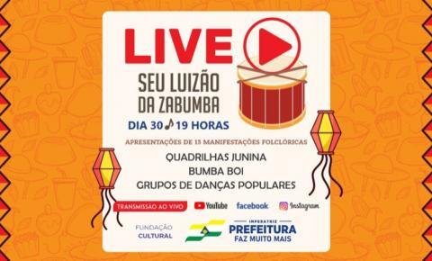 Fundação Cultural realiza live Seu Luizão da Zabumba