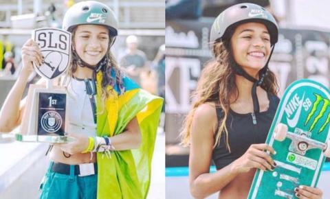 Rayssa Leal desembarcou em São Paulo mas só chega a Imperatriz dia 10 de setembro