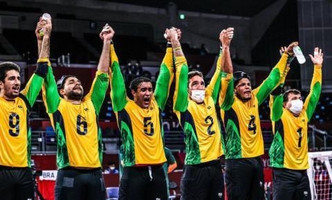 Seleção masculina vence China e conquista ouro inédito no goalball